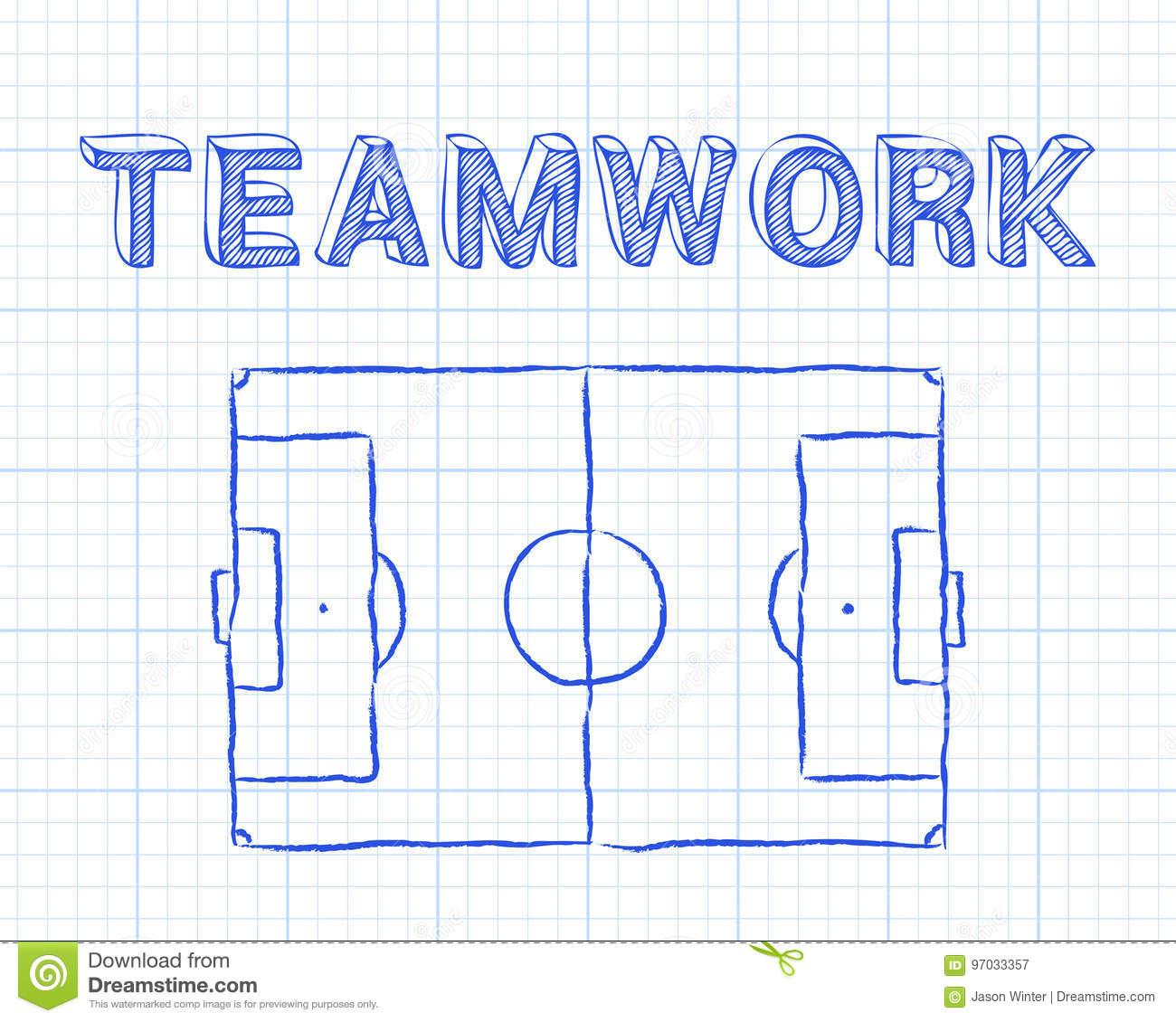 teamwork soccer pitch graph paper football diagram word background 97033357 teamwork soccer pitch graph paper stock vector illustration of