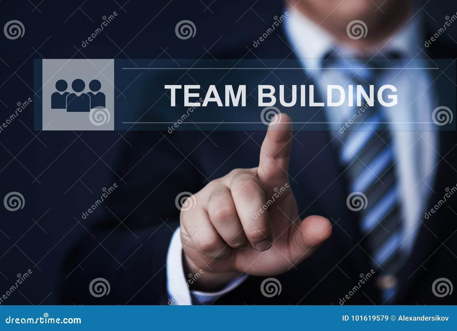 Teamwork Team building Successs Partnership Cooperation Business Technology Internet Concept