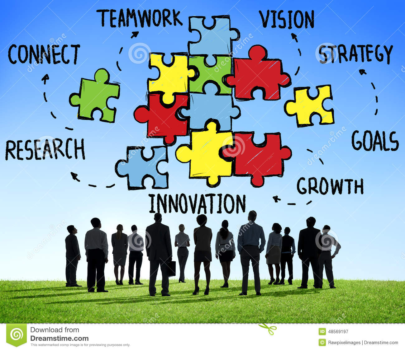 Teamwork Team Connection Strategy Partnership Support