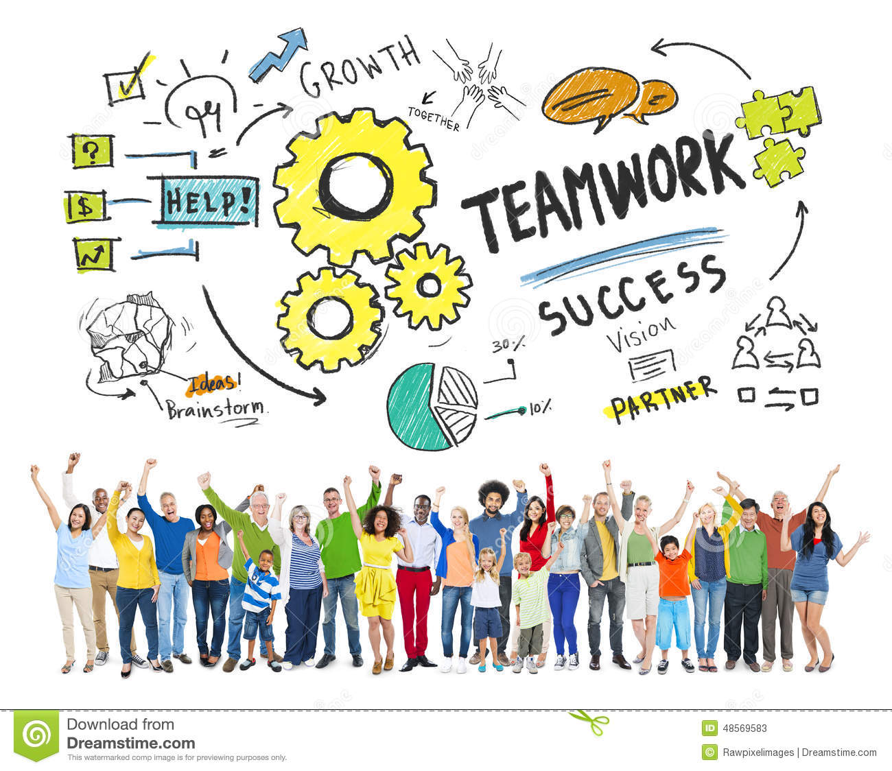 teamwork ensures community success Although teamwork is frequently the most efficient way to complete a big project, many managers struggle to lead a cohesive team a successful team knows always to tell the truth, no matter how difficult evaluate each team member individually to ensure that the role properly suits the employee.