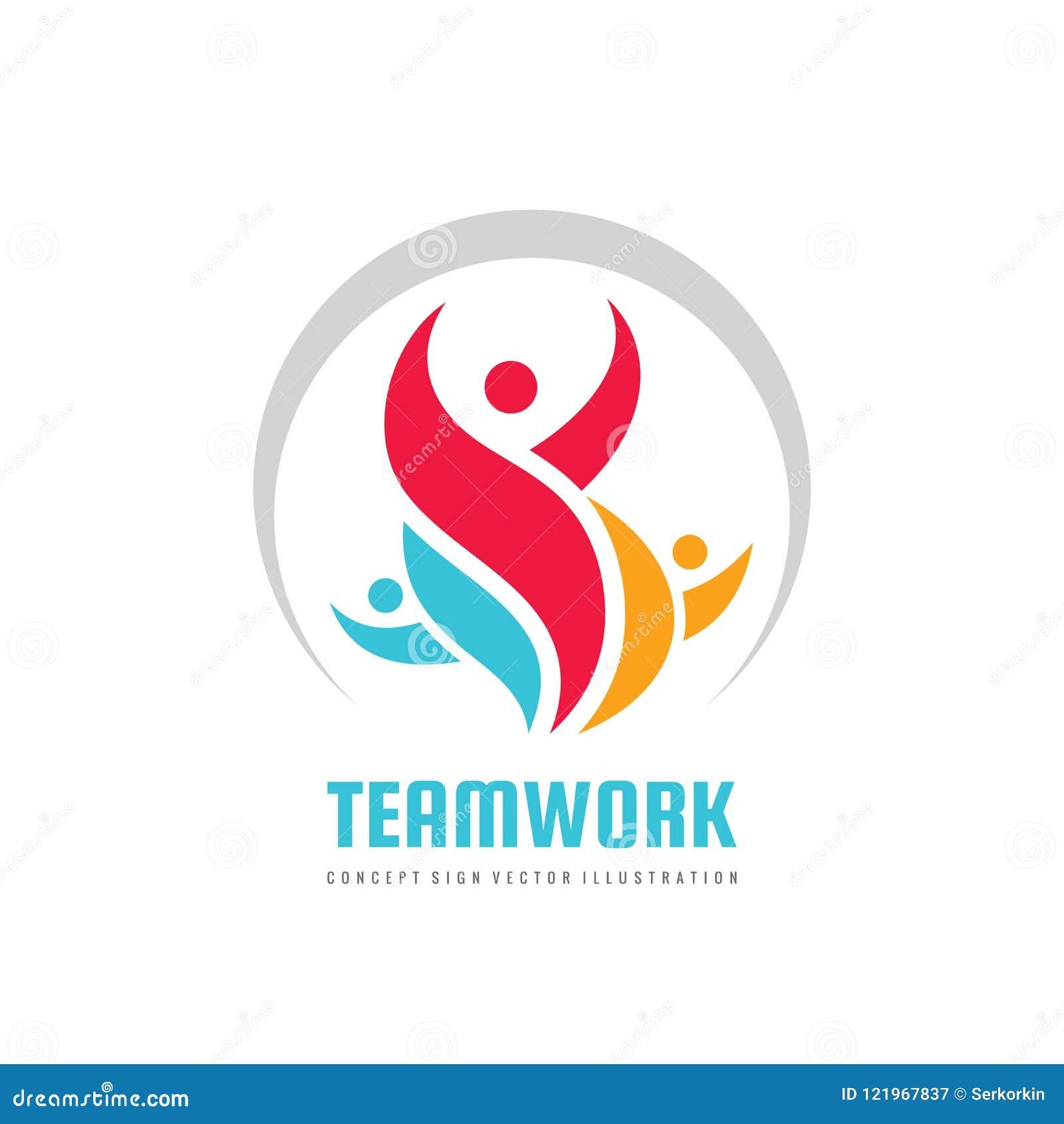 Teamwork vector business logo template creative illustration people teamwork vector business logo template creative illustration people group sign social media symbol wajeb Choice Image