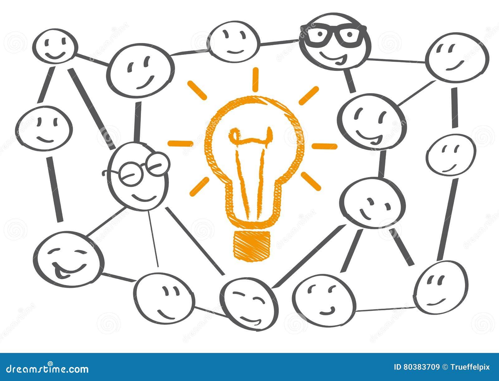 Teamworking brainstorming