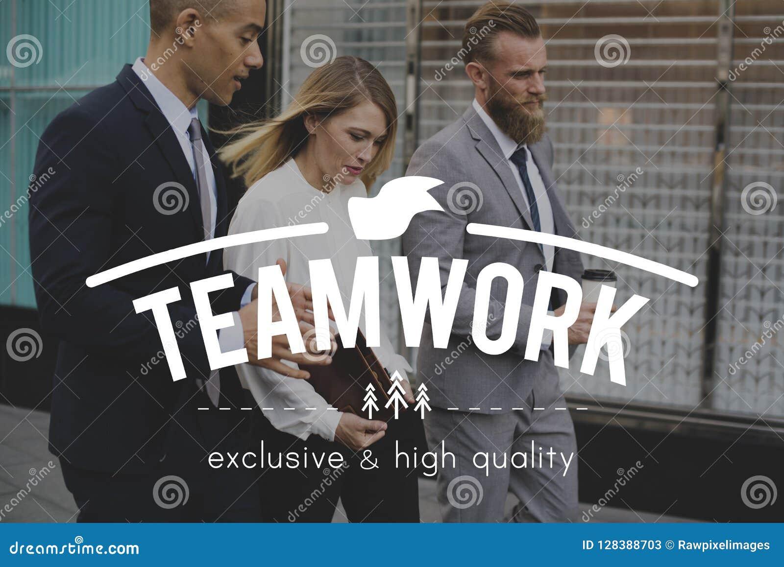 Teamworksamkopiering på affärsfolk