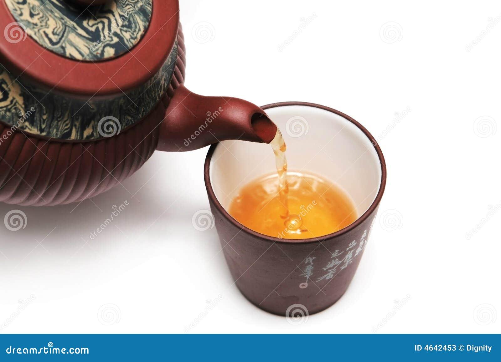 Teapot de Japão com um copo