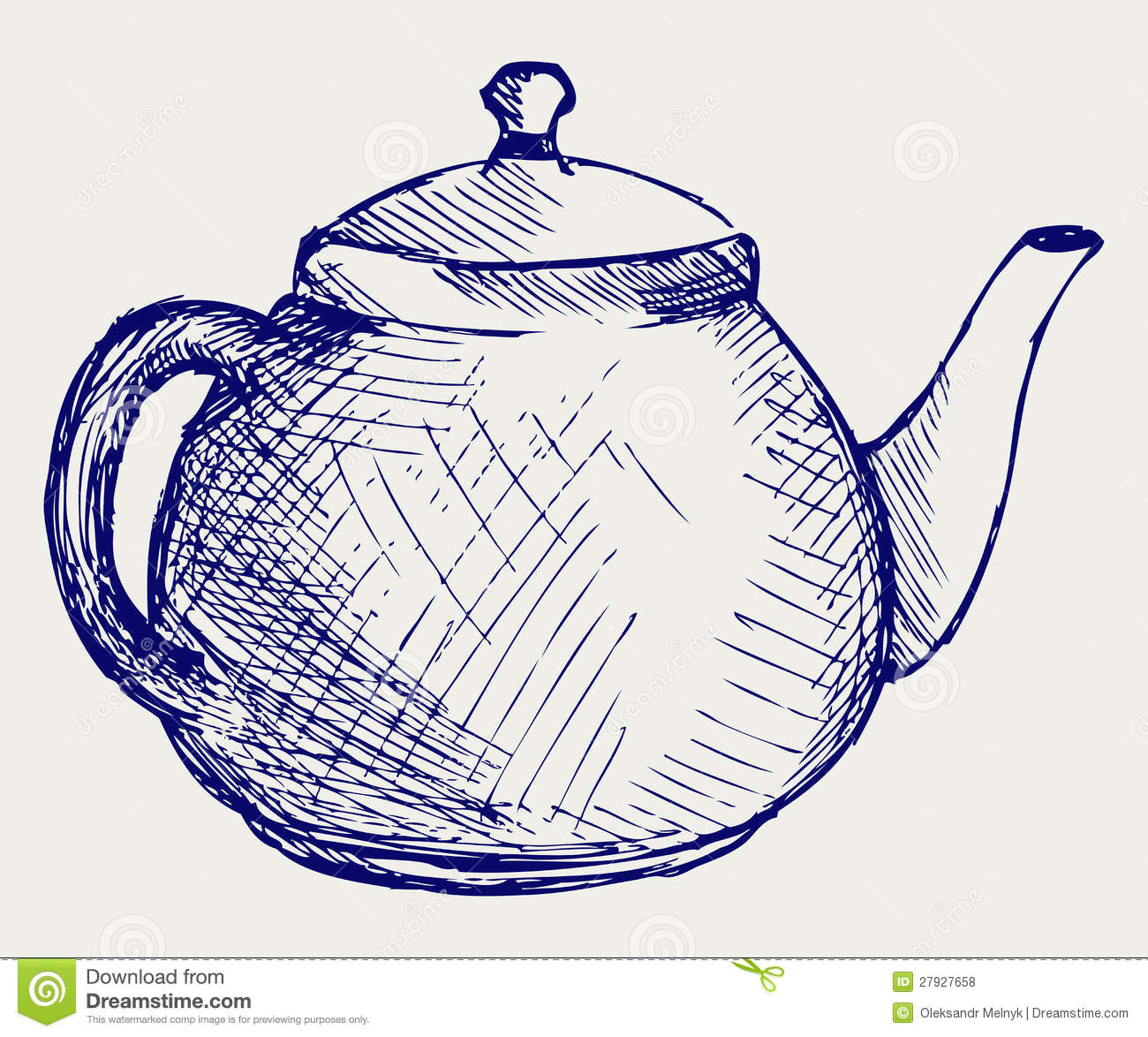 Teapot Doodle Style Stock Vector Illustration Of