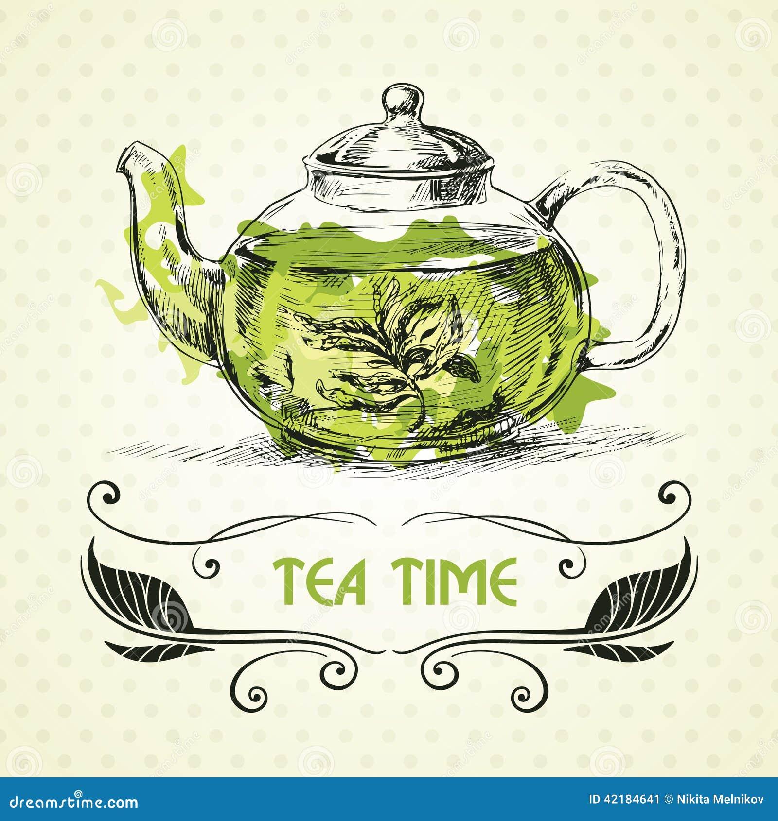 Teapot green tea