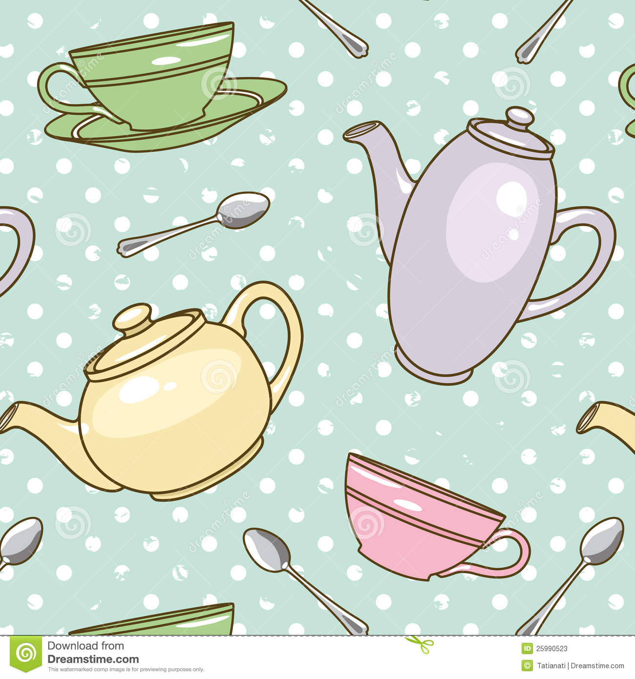 Teapot Pattern Stock Photos Image 25990523