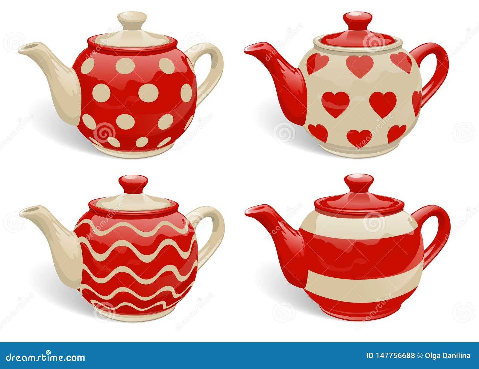 Teapot Set Vector Stock Vector Illustration Of Decoration 147756688