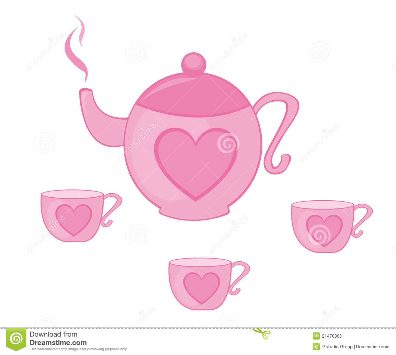 Teapot And Tea Cup Stock Vector Illustration Of