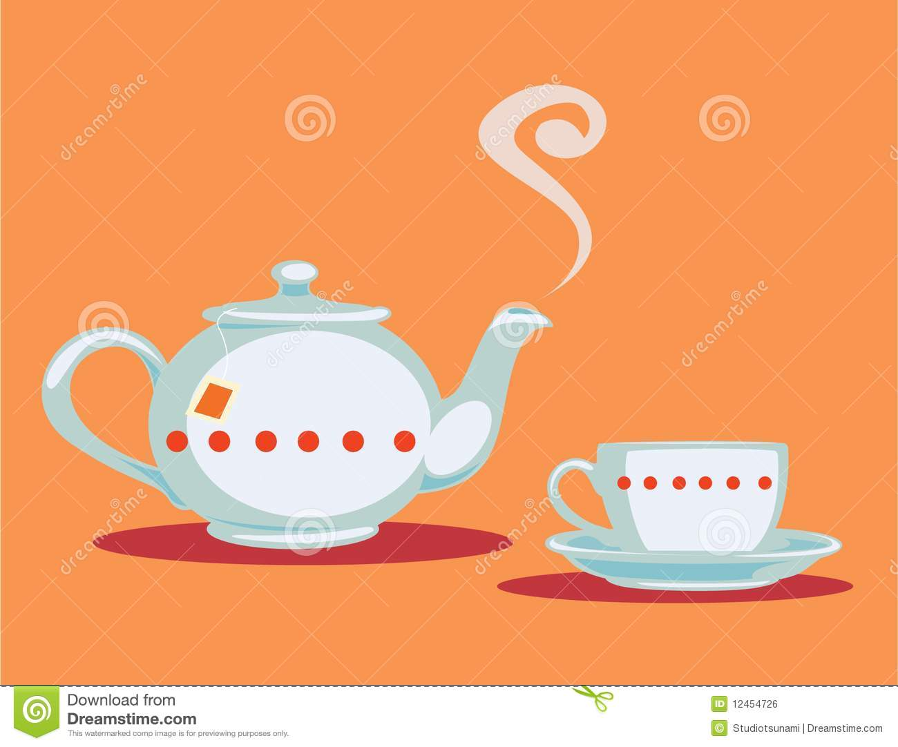 Teapot And Teacup Royalty Free Stock Image - Image: 12454726