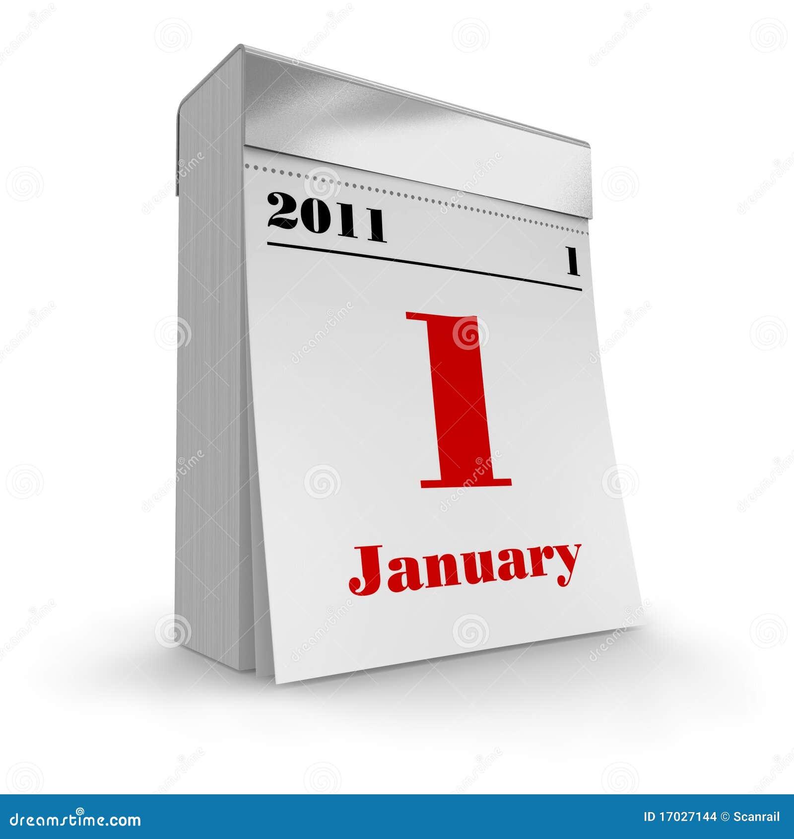 tear-off calendar 2011 stock images