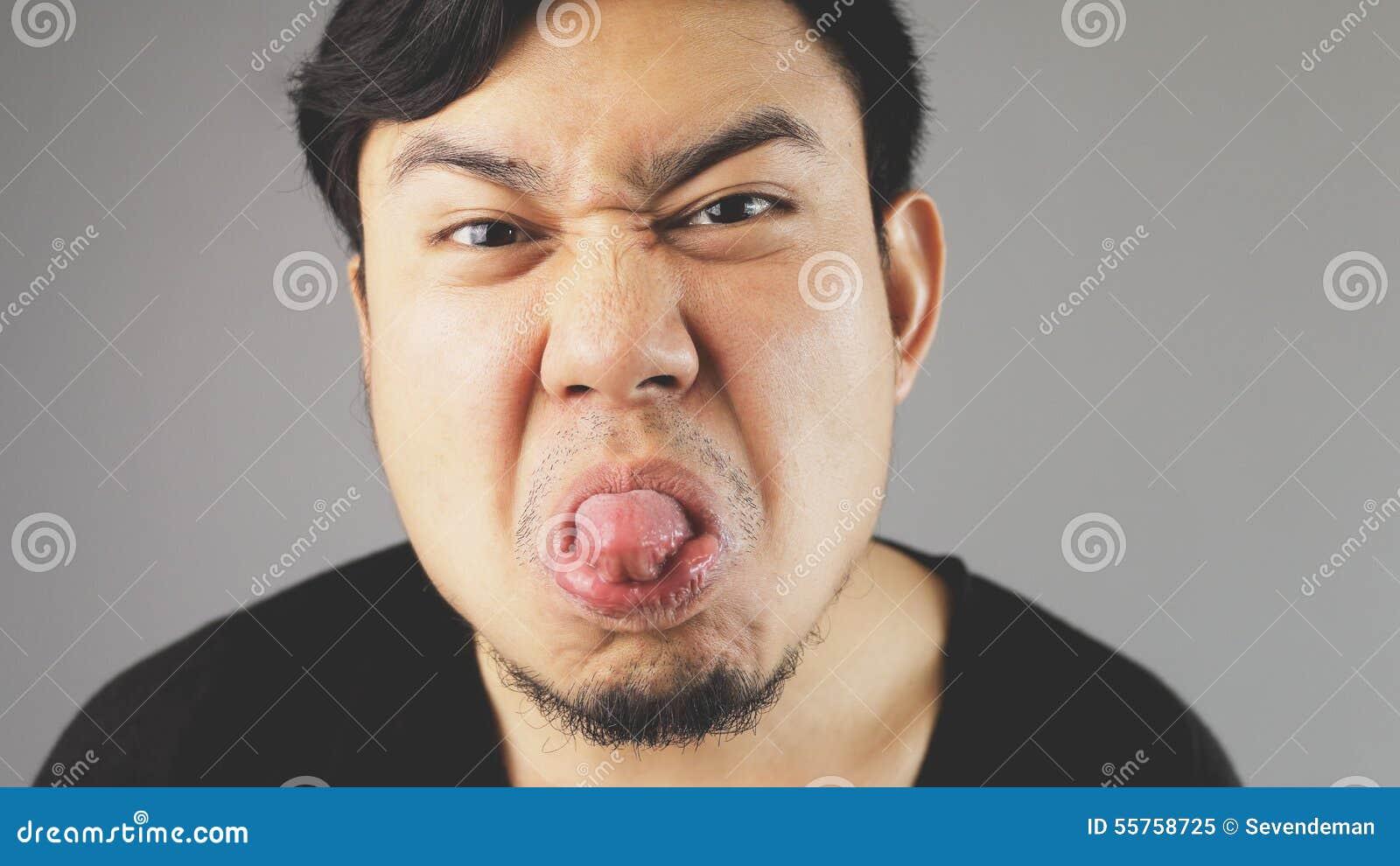 Teasing tongue.
