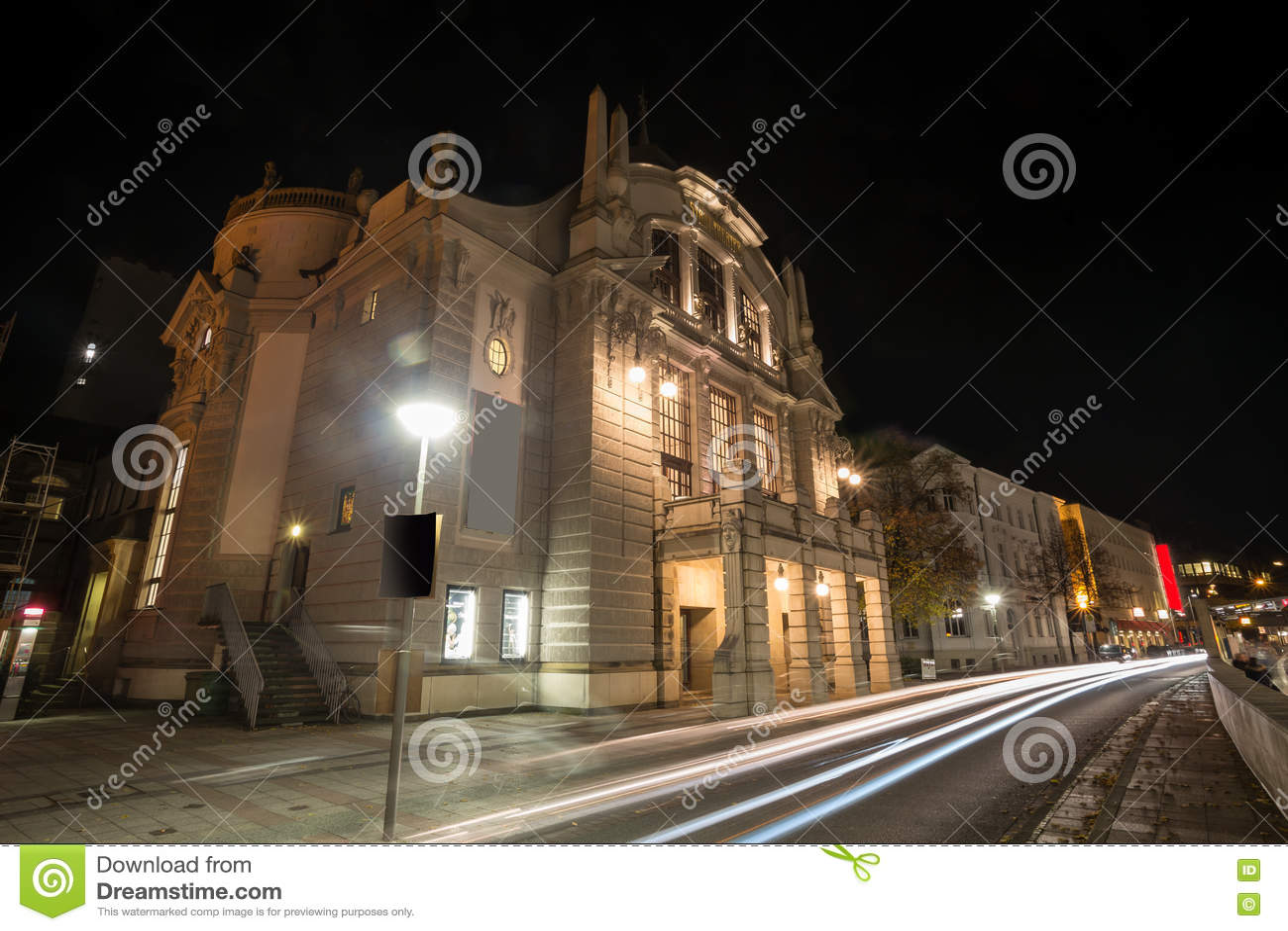 Teatro bielefeld Alemanha na noite