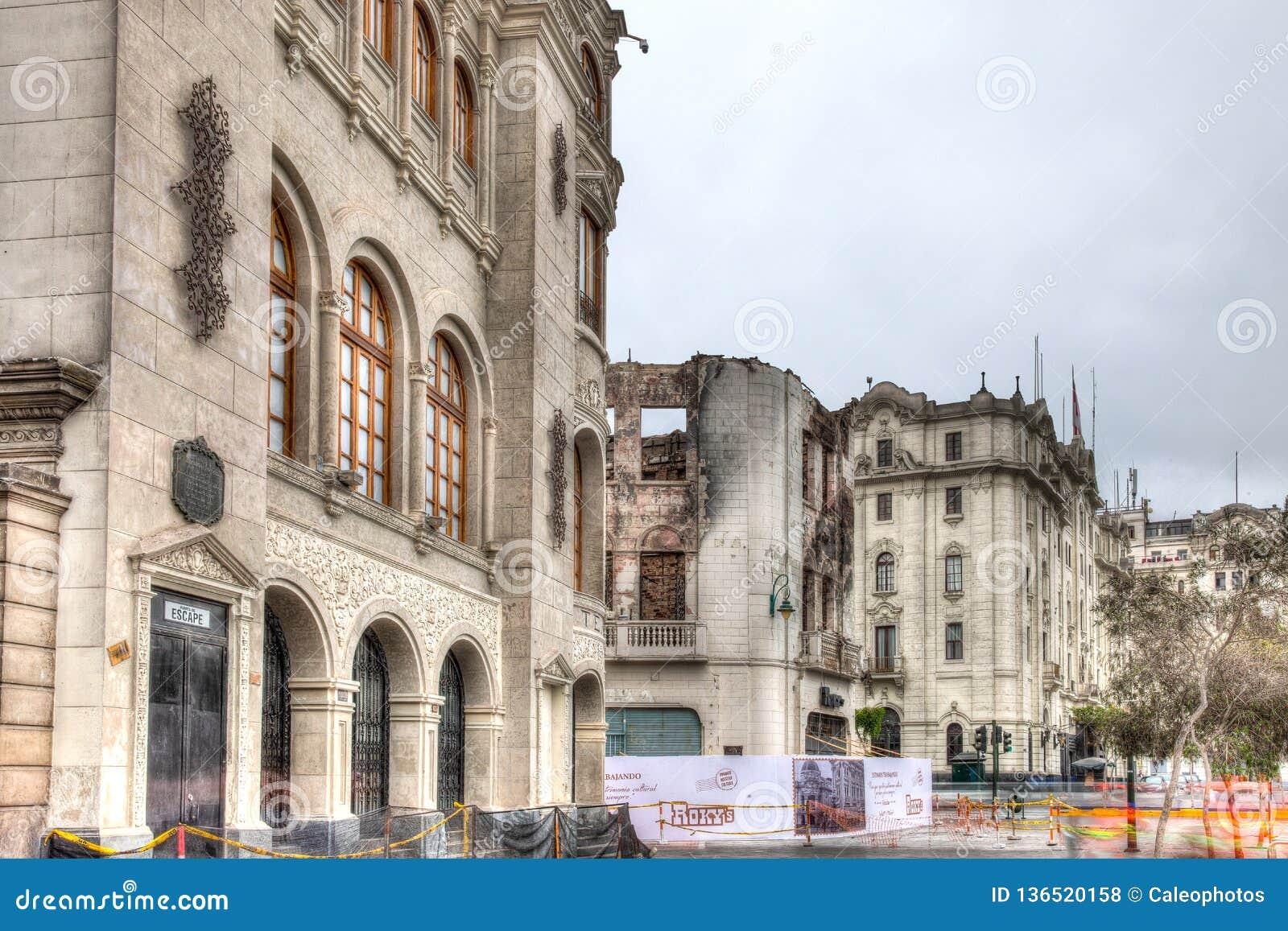 Teatro Colon in Lima, Peru