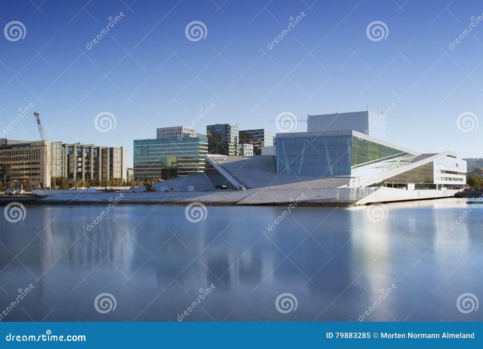 Teatro da ópera de Oslo em Noruega