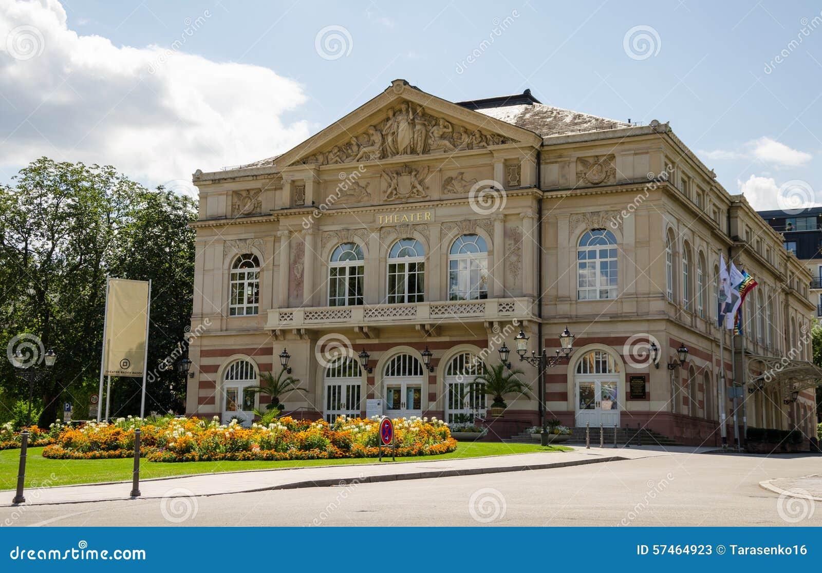 teatro da cidade de baden baden imagem de stock imagem. Black Bedroom Furniture Sets. Home Design Ideas