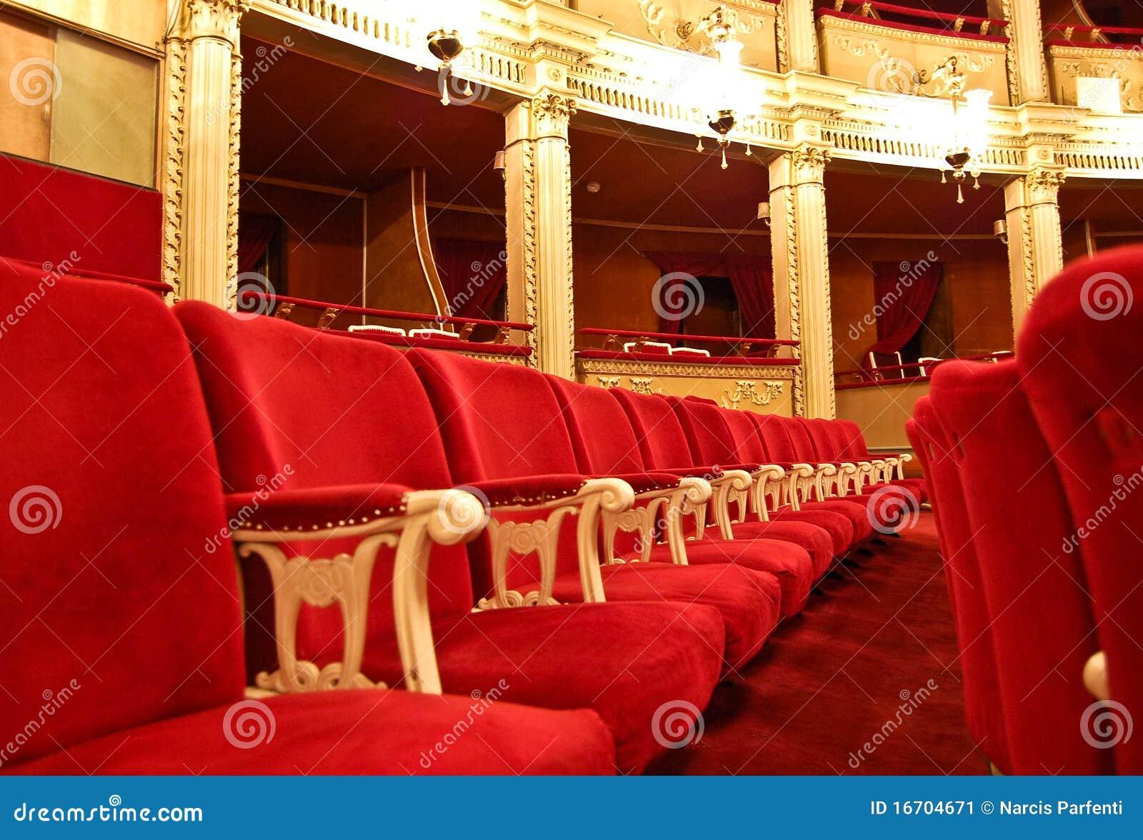 Teatro de la ópera público - asiento