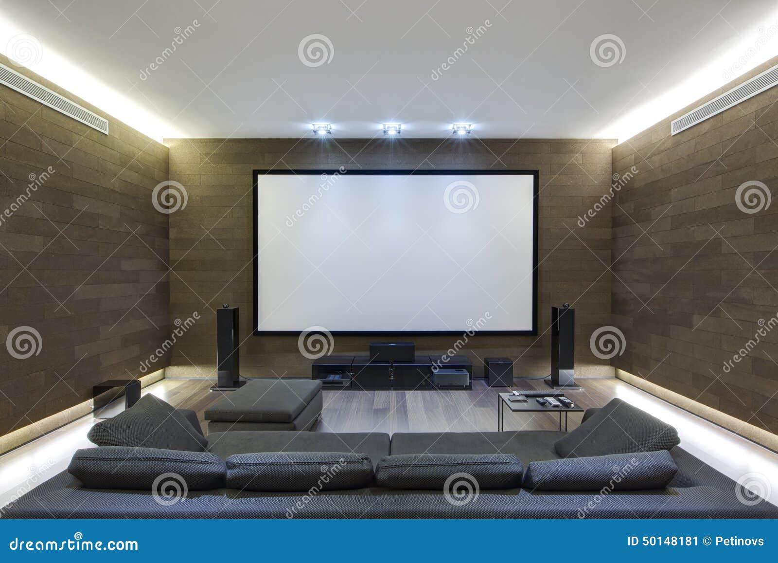 Teatro del En-hogar en hogar de lujo