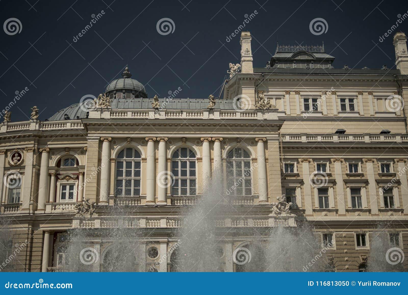 Teatro di opera Vecchia città Architettura Fontana