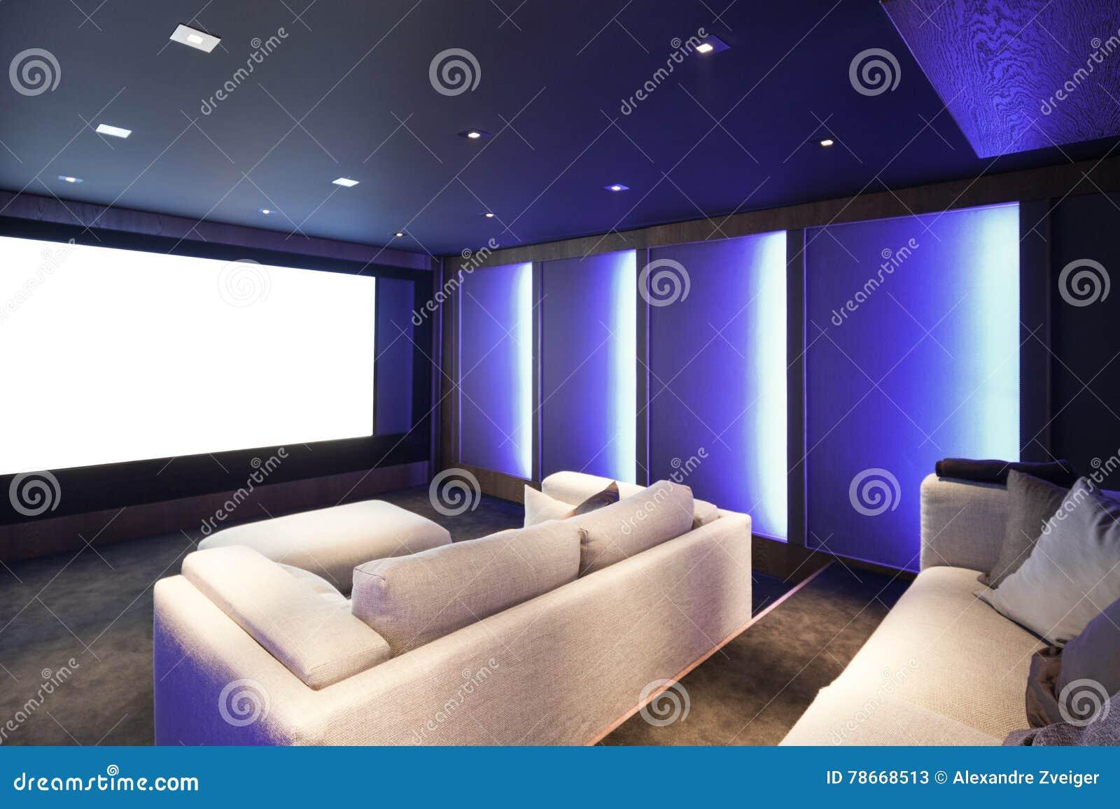 Teatro domestico, interno di lusso