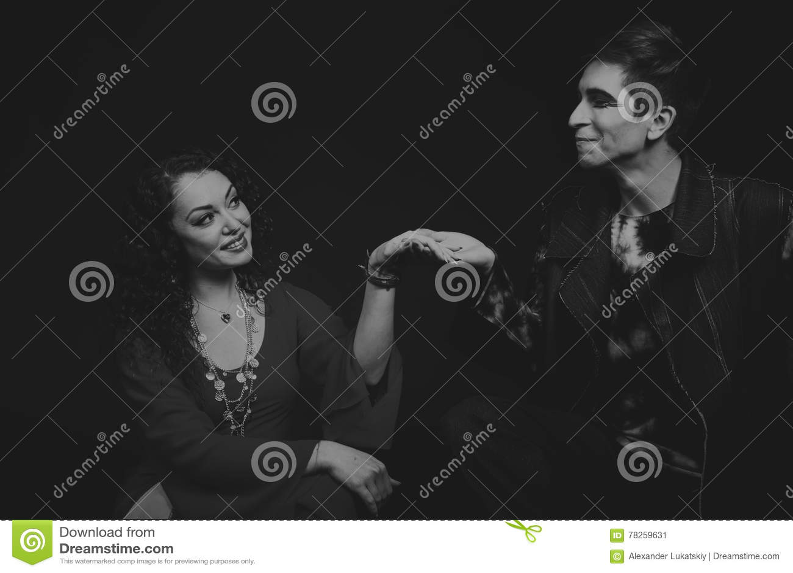 Teatro dos atores nas imagens originais