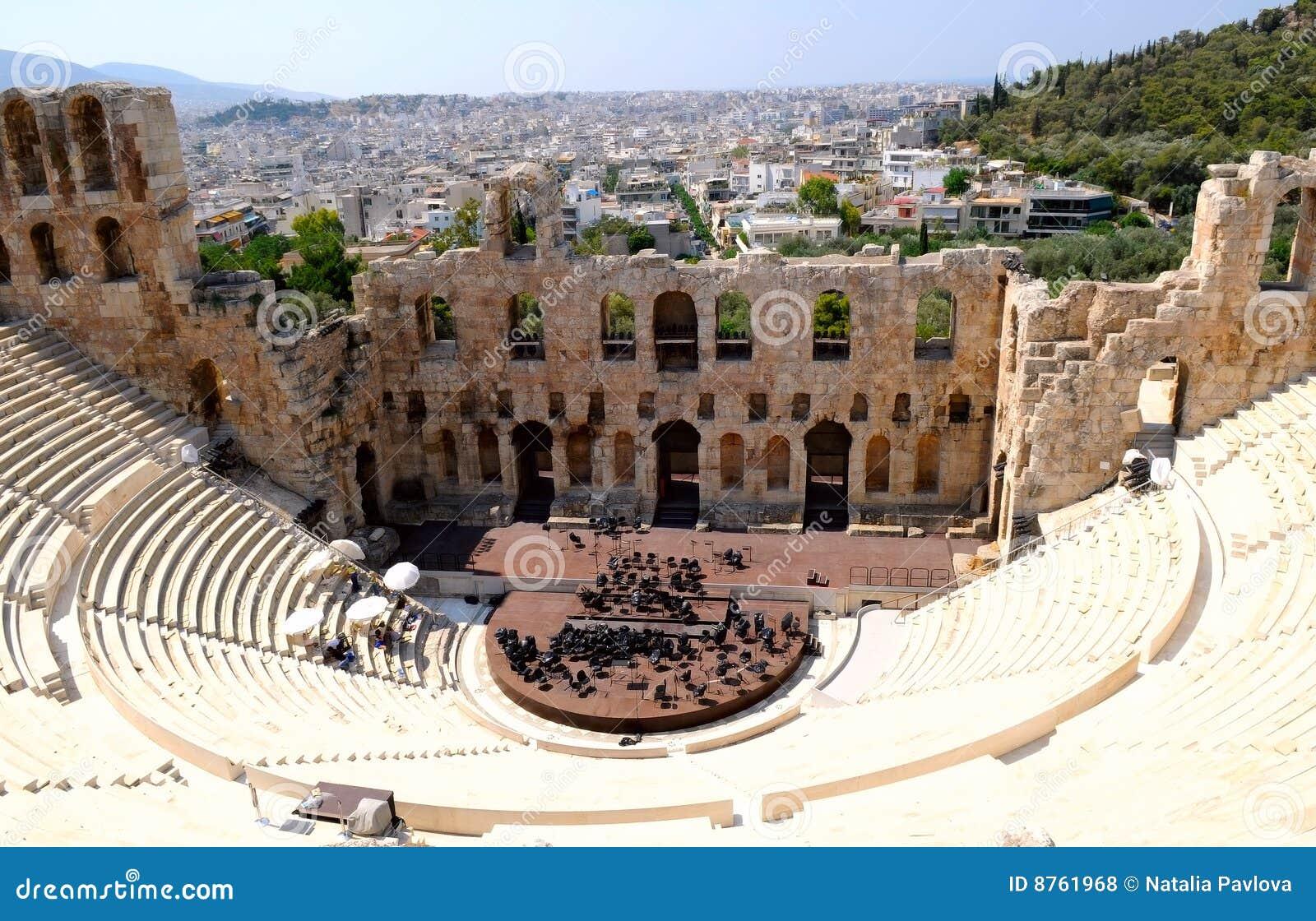 Teatro em Atenas, Greece