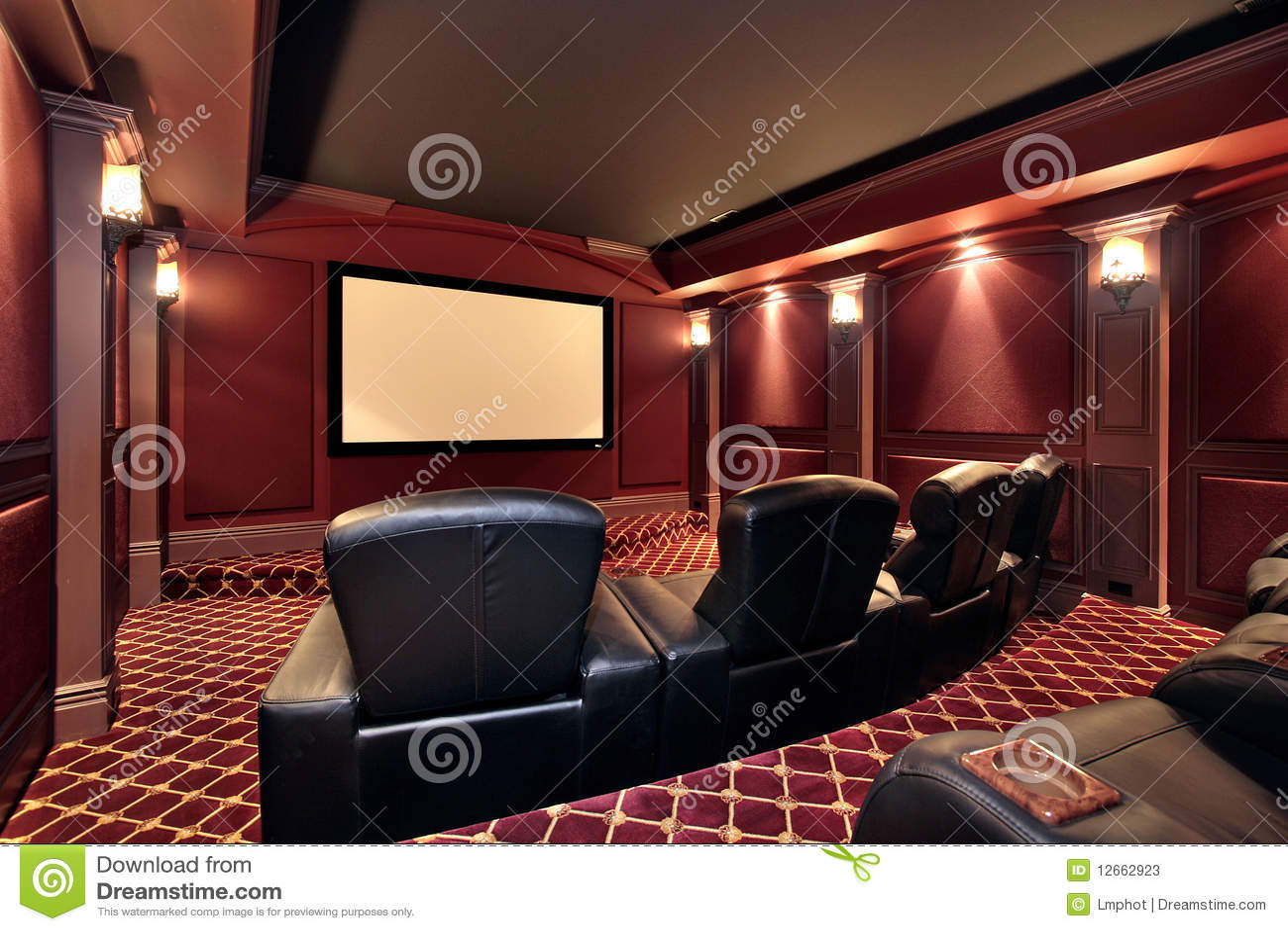 Teatro en hogar de lujo
