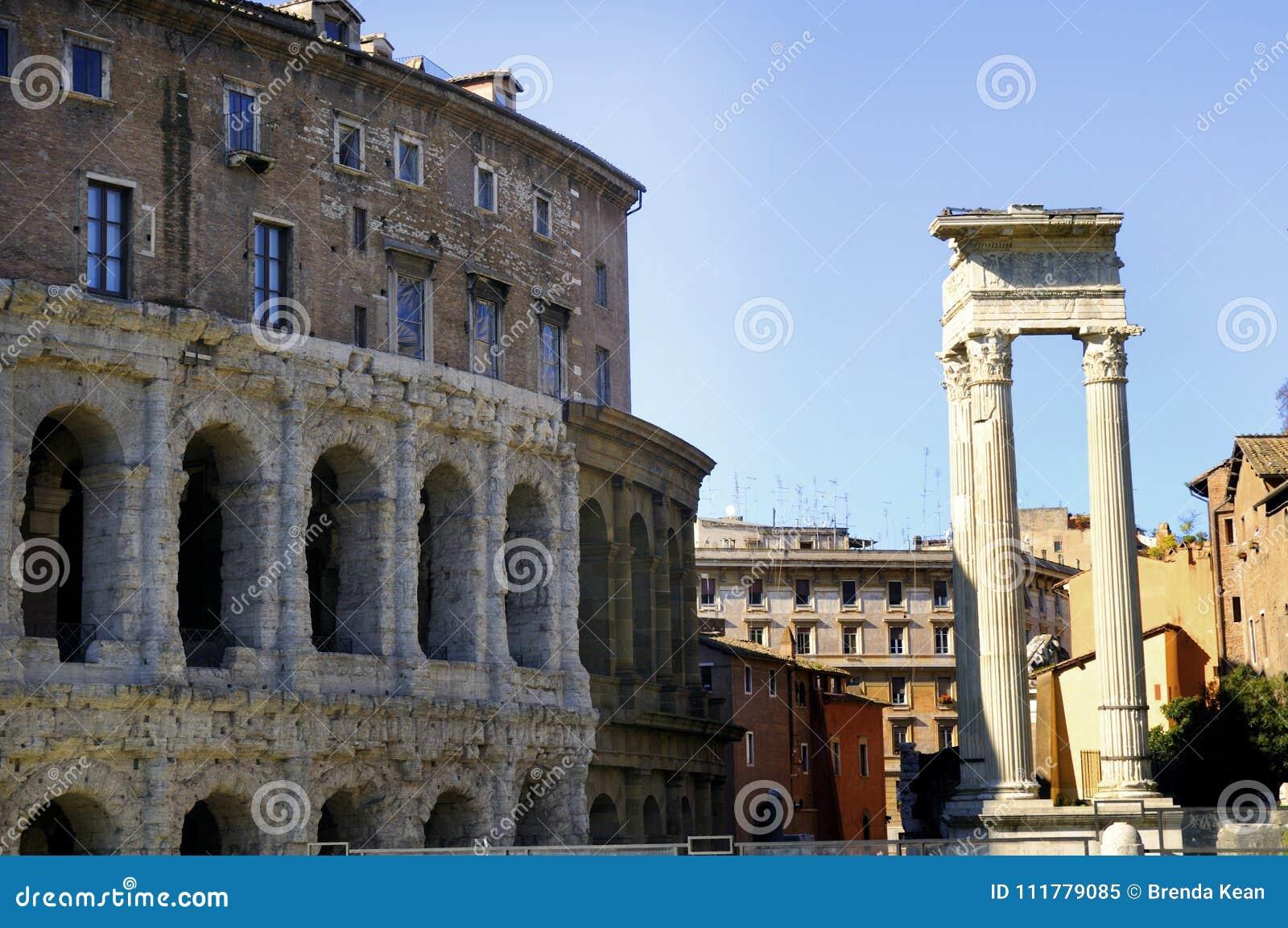 The Teatro Marcellus in Rome
