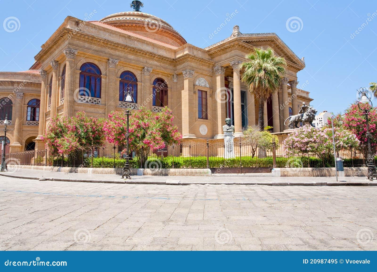 Teatro Massimo - Opera House In Palermo, Sicily Stock Image - Image ...