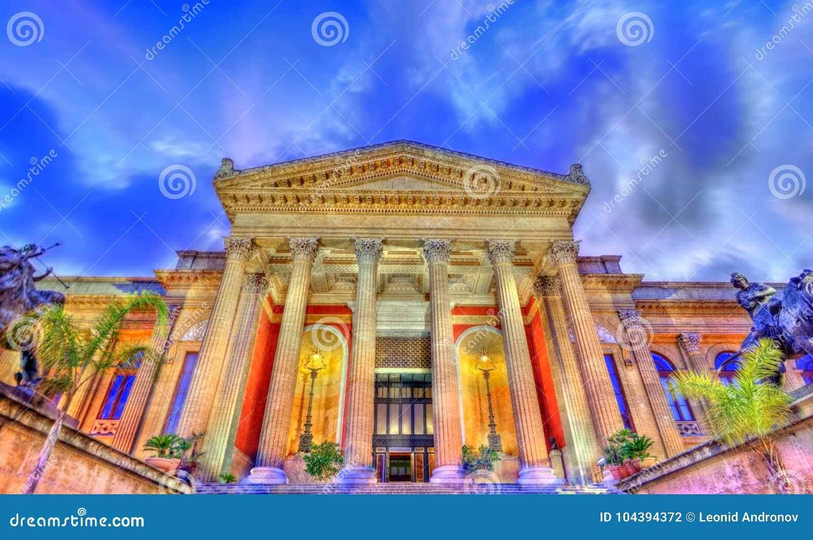 The Teatro Massimo Vittorio Emanuele, The Biggest In Italy Opera ...