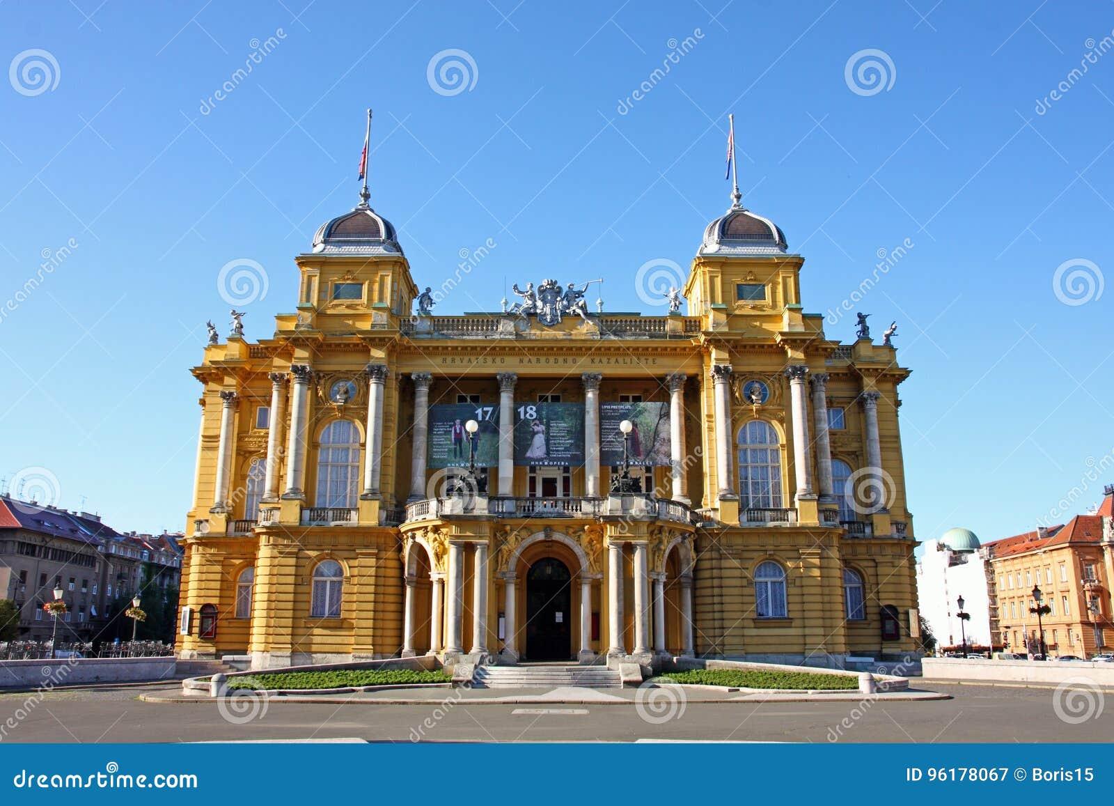 Teatro nacional croata en Zagreb