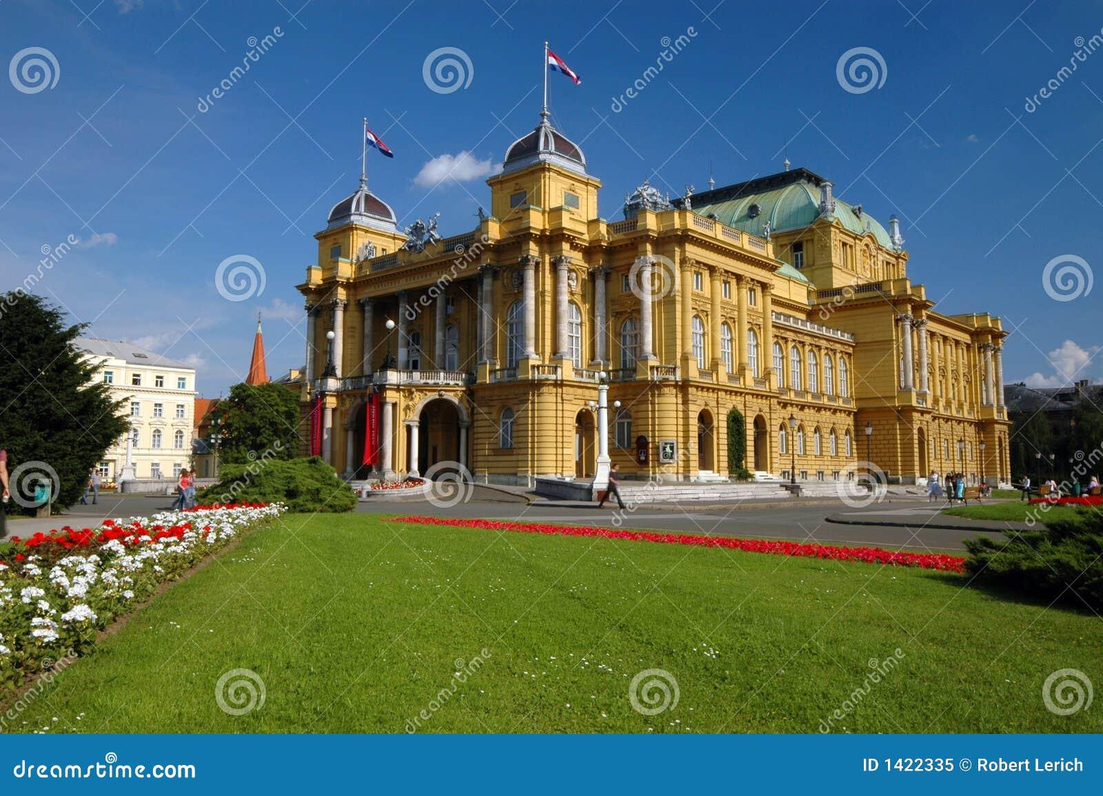 Teatro nacional Zagreb de croatia