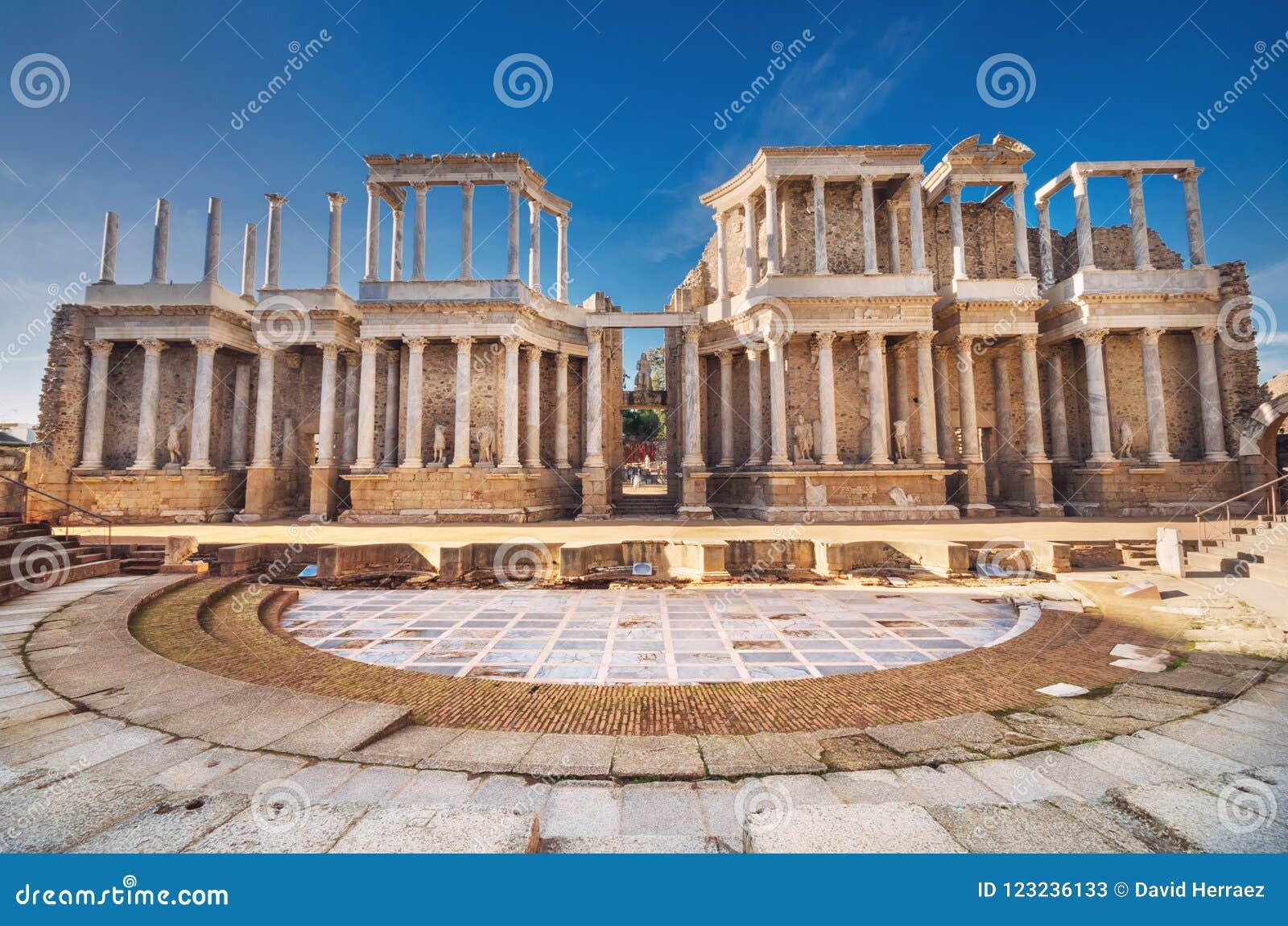 Teatro romano de Mérida, Mérida, Extremadura, España