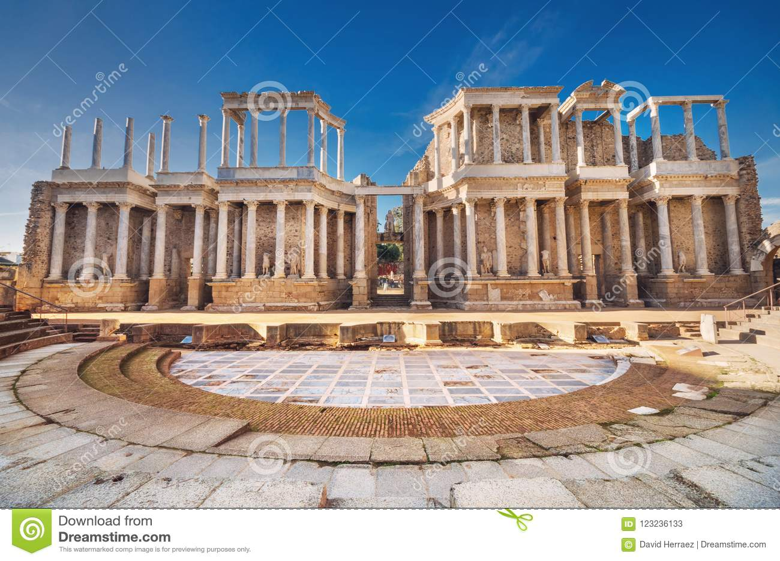 Teatro romano de Merida, Merida, Extremadura, Espanha