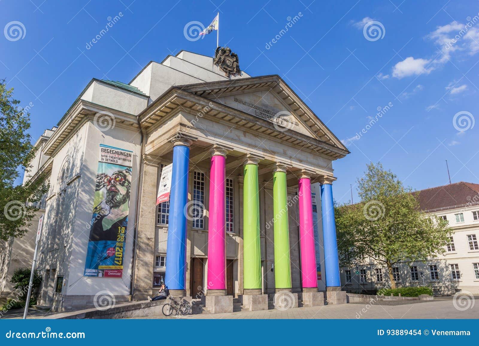 Teatro variopinto della città nel centro di Detmold