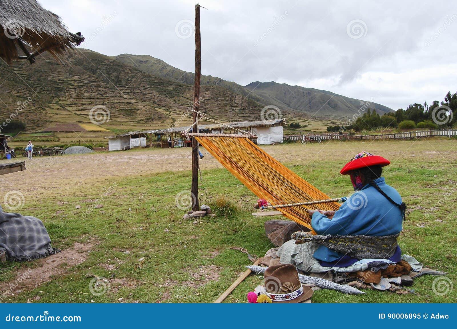 Tecelagem da mulher - Peru