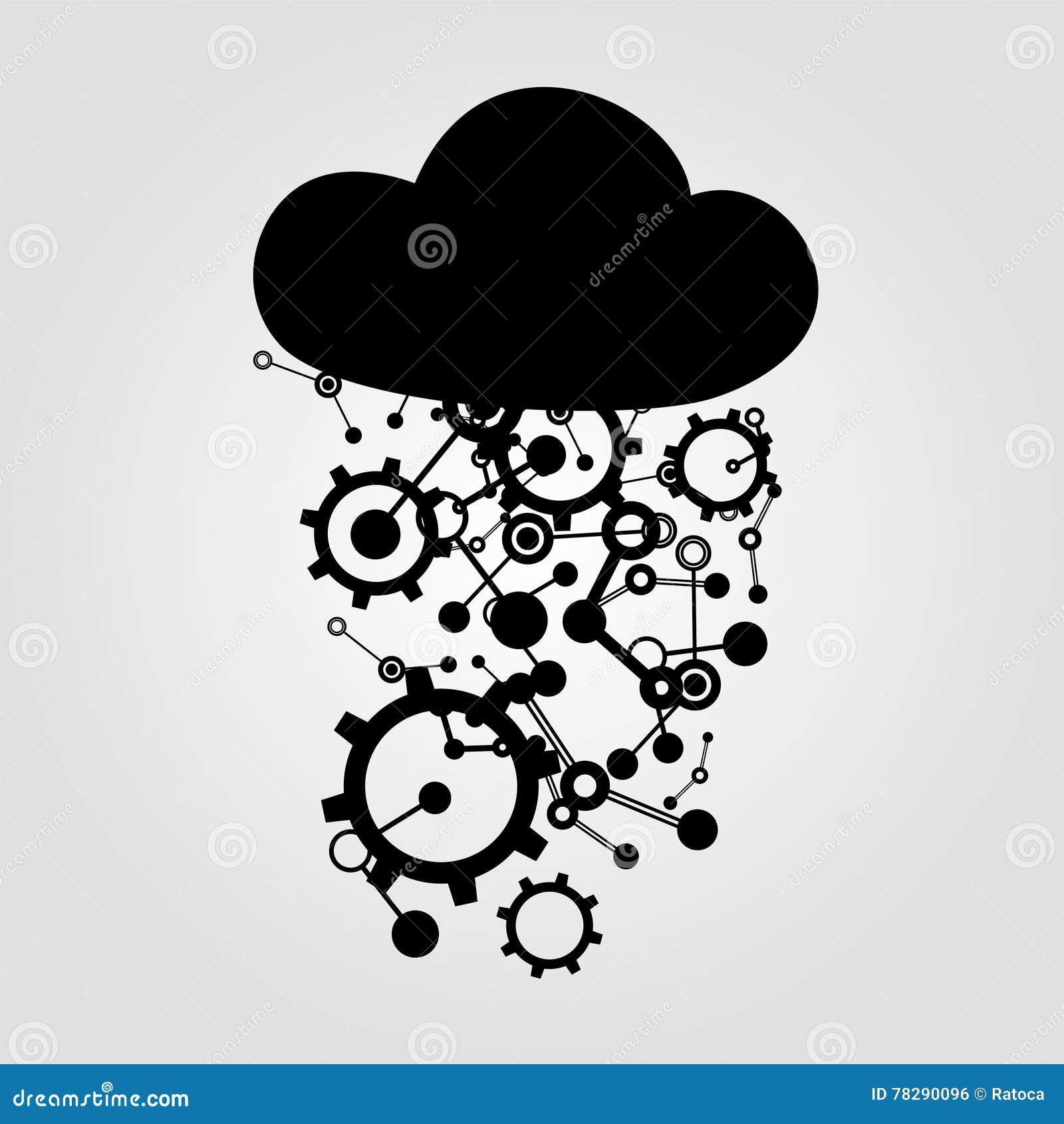 Tech cloud symbol stock vector illustration of tech 78290096 tech cloud symbol industrial configuration biocorpaavc Gallery