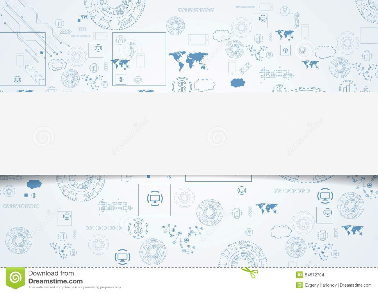 Tech Engineering Drawing Abstract Background Stock Vector ...