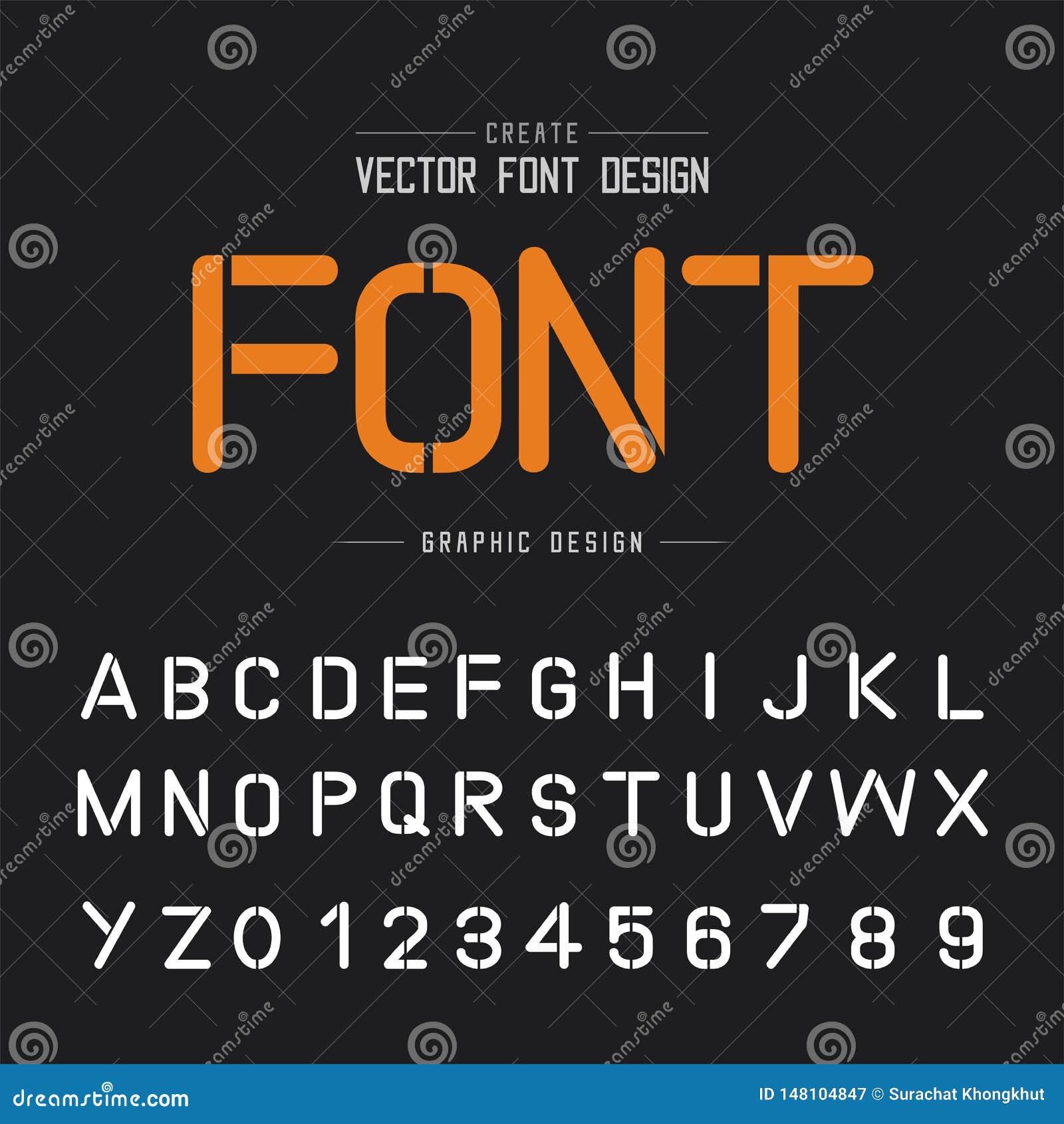 Tech Font And Alphabet Vector  Technology Typeface Letter