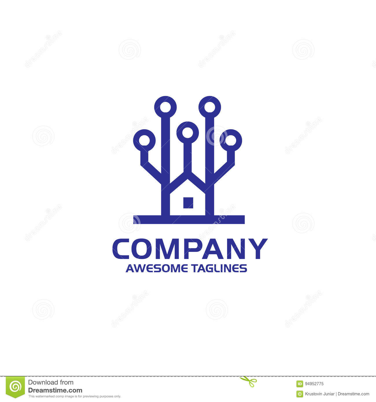 Tech House Electronic Circuit Board Icon Stock Vector Parallel Home Electrical Wiring Basics