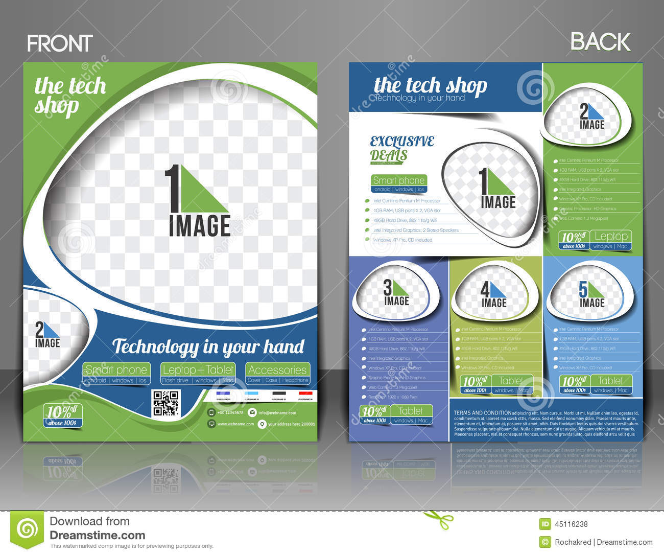 Flyer Repair... Technical Poster Template