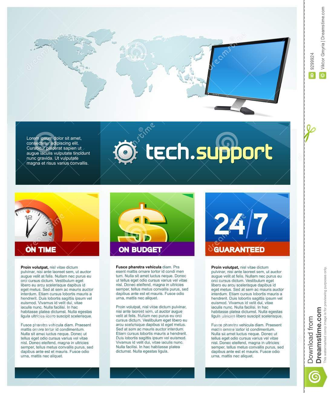 Tech Support Brochure Stock Images Image 9299924
