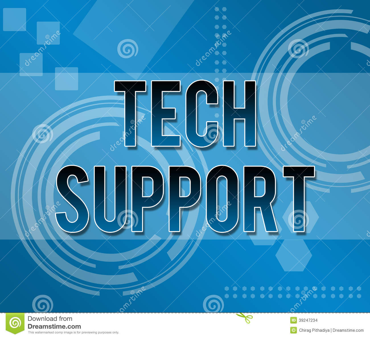 Tech Support Business Background Stock Illustration ...