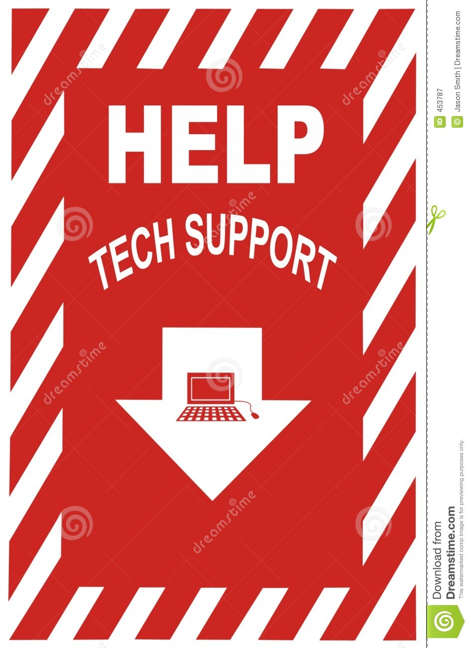 Tech Support Sign Stock Image Image Of Password Panic