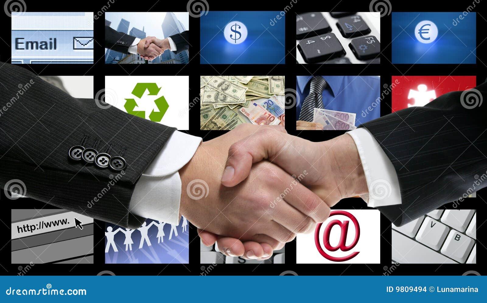 Tech tv video communication screen handshake