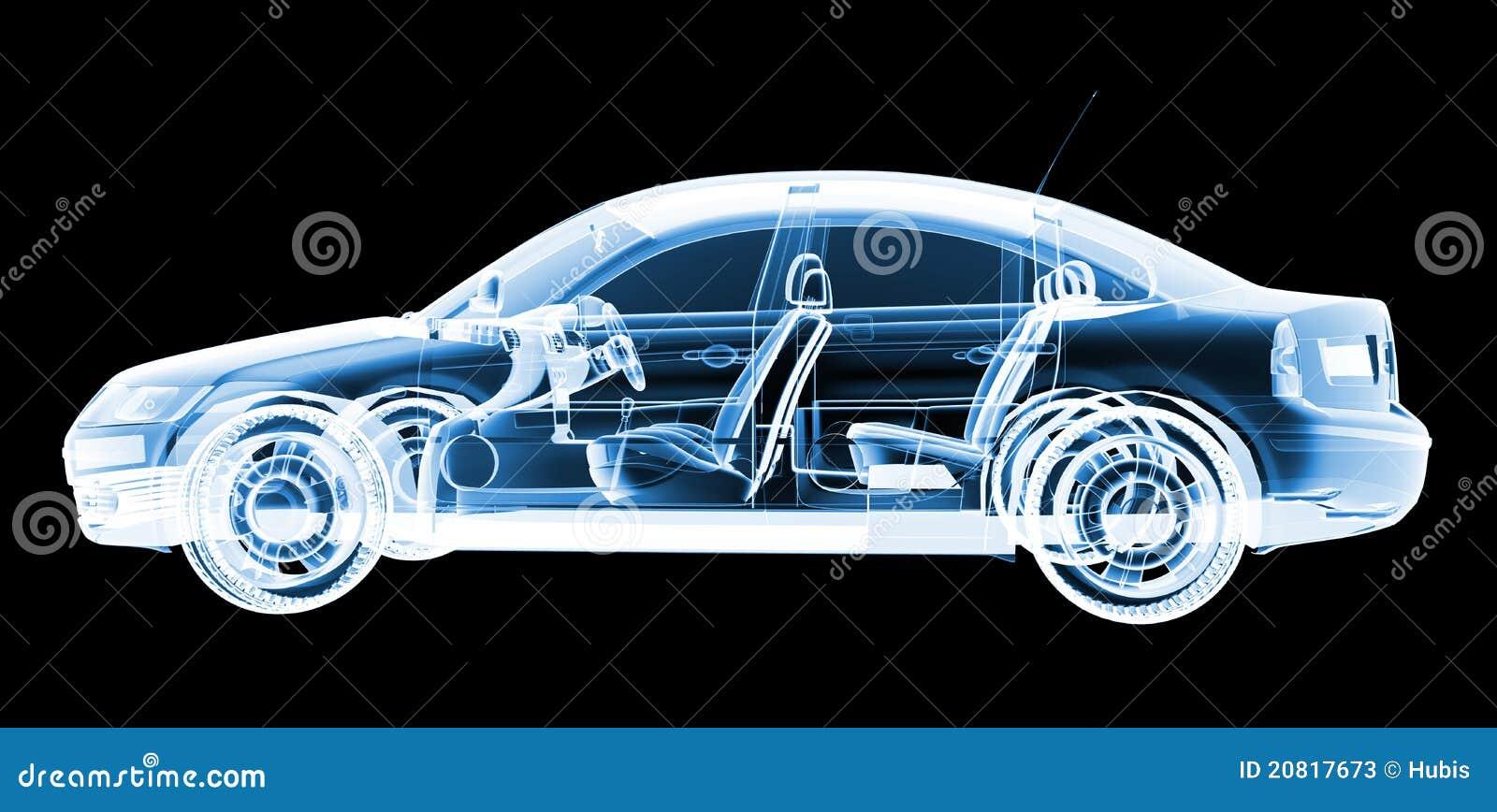 Auto Design Tech: Tech Xray Car Design Stock Illustration. Illustration Of
