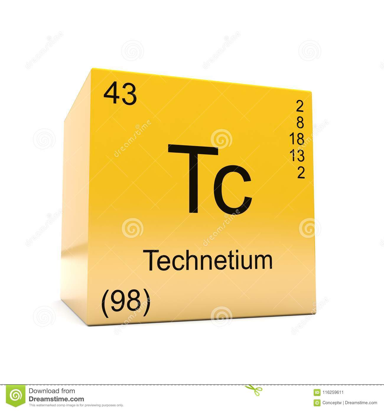 Technetium chemical element symbol from periodic table stock download technetium chemical element symbol from periodic table stock illustration illustration of displayed school urtaz Gallery