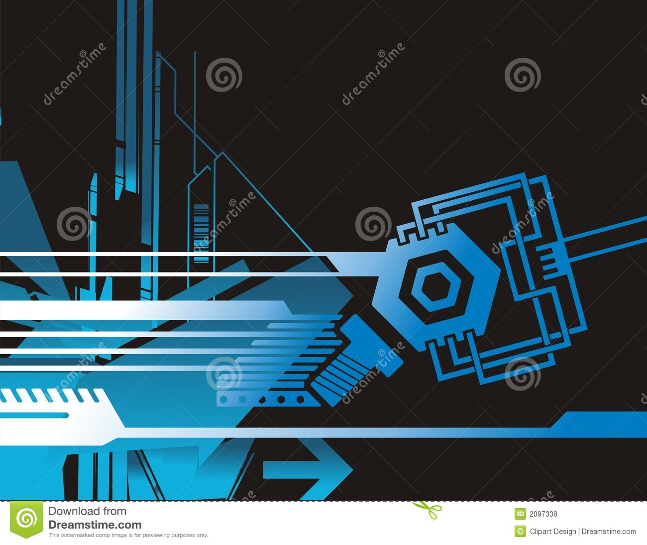 Technical Background Series Stock Vector