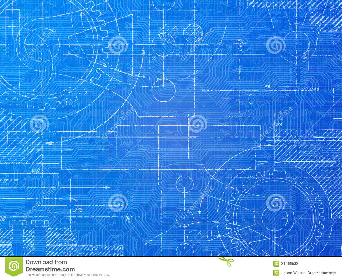 Technical blueprint stock illustration illustration of for Web design blueprints
