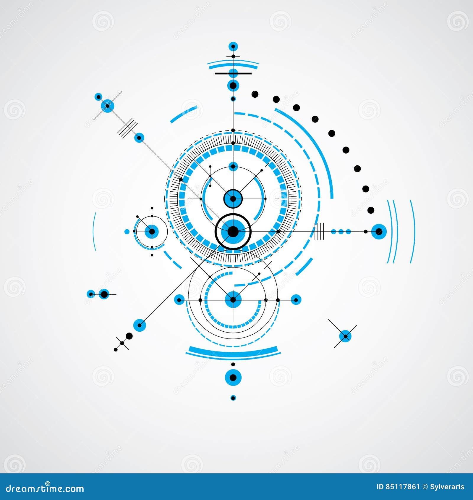 Technical blueprint vector digital background with geometric de download comp malvernweather Gallery